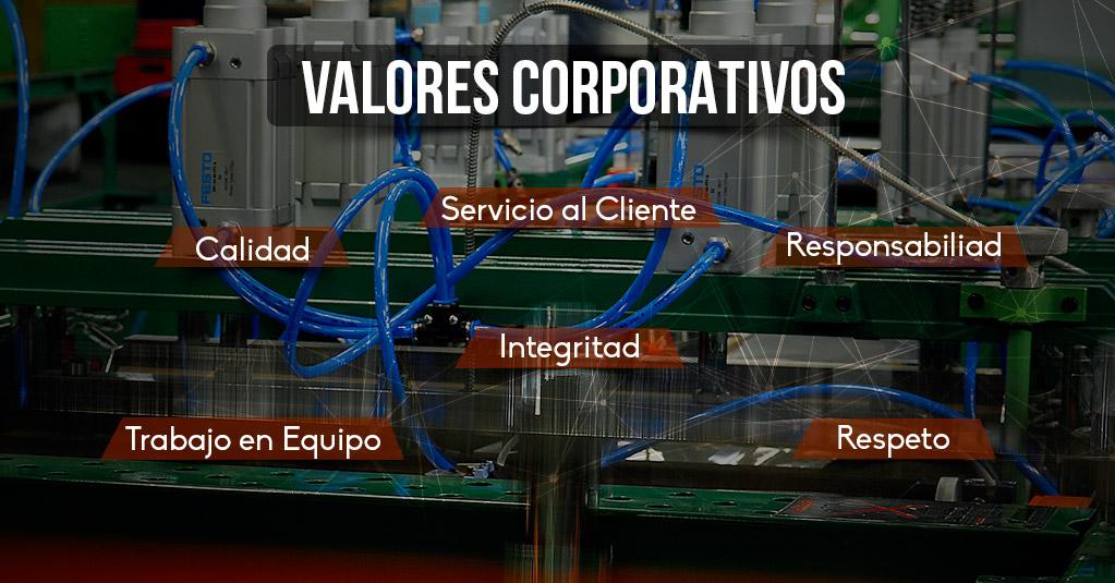 Describe los valores de nuestra empreas
